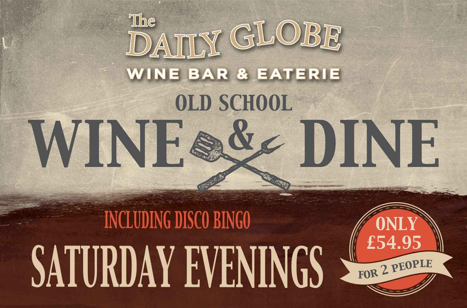 Daily Globe jersey old school wine and dine